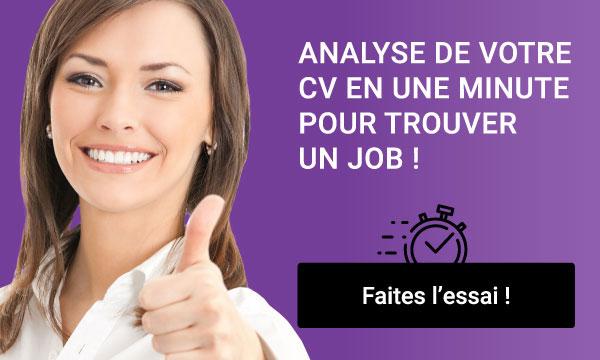 Une minute pour analyser votre CV et trouver un job